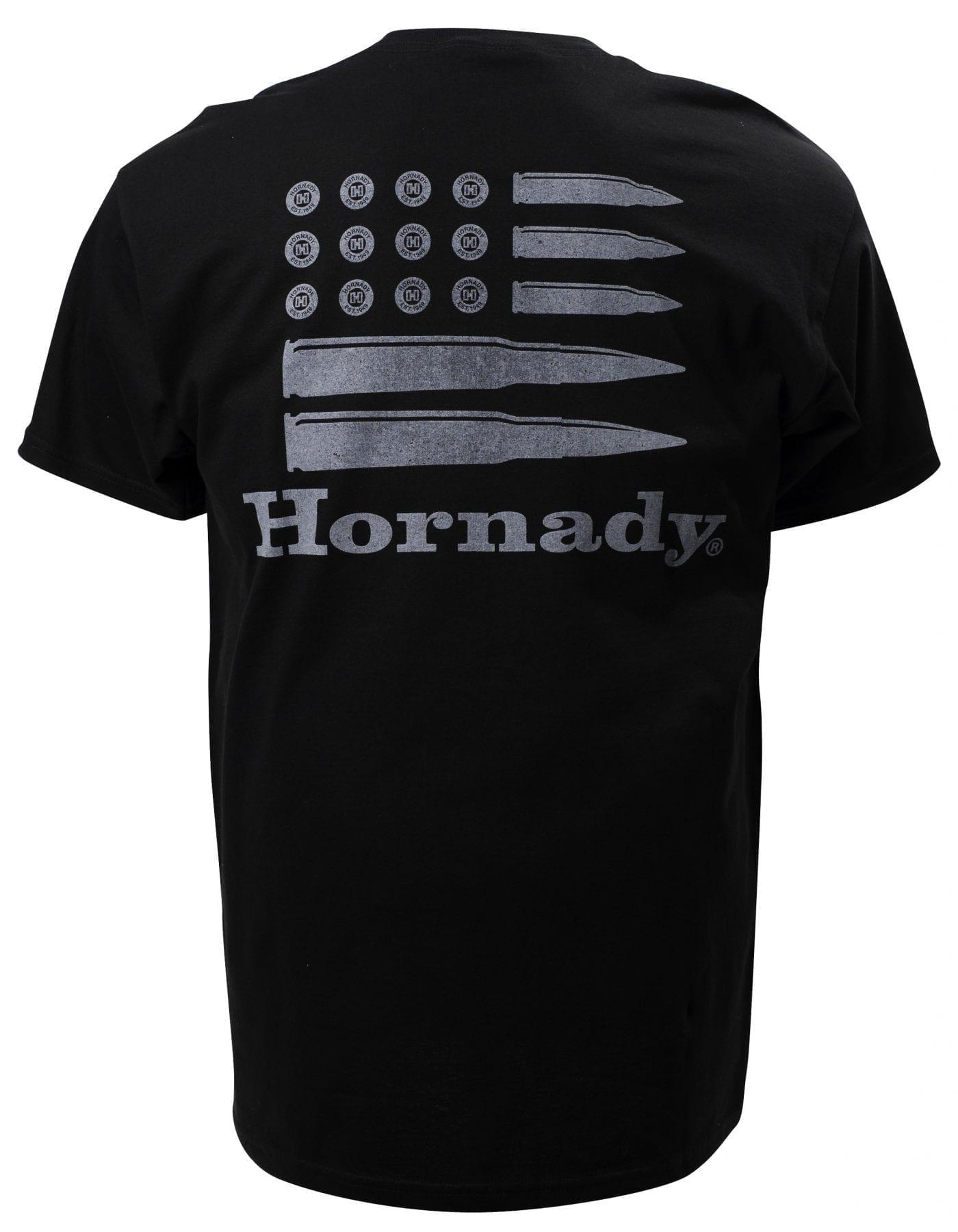 Hornady Bullet Flag Black (Back)